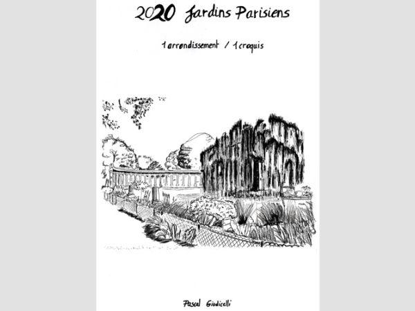 2020 jardins parisiens - 1 arrondissement / 1 croquis