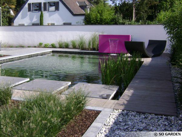 bassins et lames d 39 eau so garden modernes ou rustiques. Black Bedroom Furniture Sets. Home Design Ideas