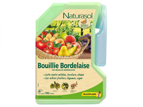 Bouillie bordelaise naturasol le fongicide traditionnel - Bouillie bordelaise sur arbres fruitiers en fleurs ...