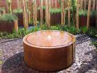 Table d'eau ronde en acier CorTen