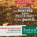 Collecte 2016 de pesticides chez Botanic