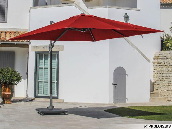 Parasols pied d port oc o orientables 360 - Parasol sur pied deporte ...