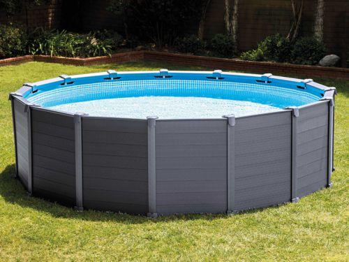 piscine graphite intex r sistante et ultra tendance. Black Bedroom Furniture Sets. Home Design Ideas