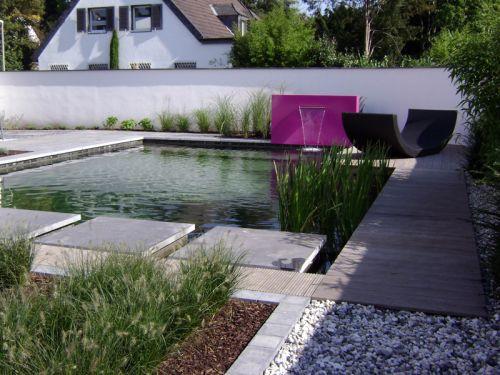 Bassins murs et lames d 39 eau pour le bassin for Amenagement bassin jardin