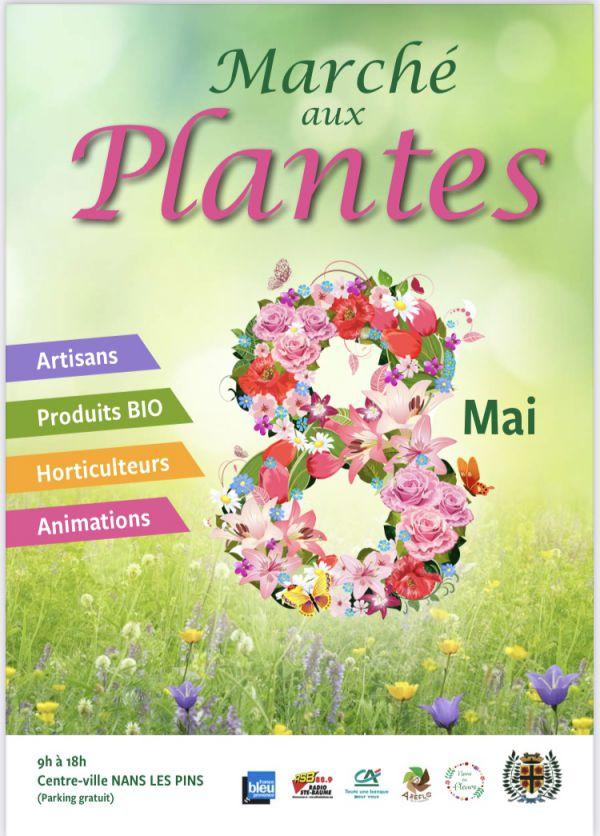 Marché aux plantes, produits bio et artisanaux
