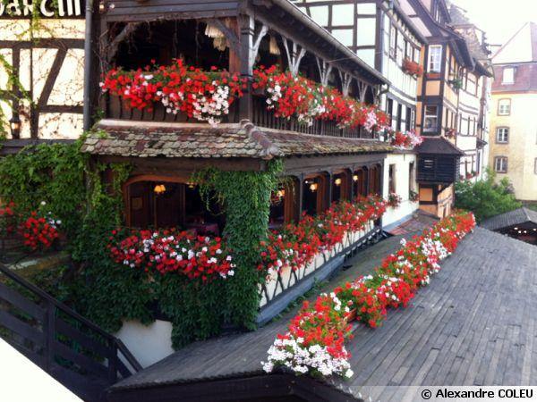 Balcons fleuris à Strasbourg