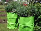 Des jardinières en matériaux recyclés