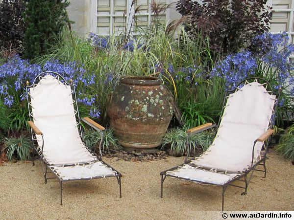 Coin repos  avec chaises longues