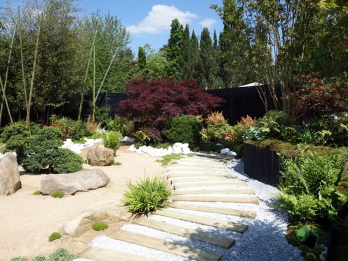 Le jardin japonais de pascal laforge pour truffaut - Accessoires pour jardin japonais ...