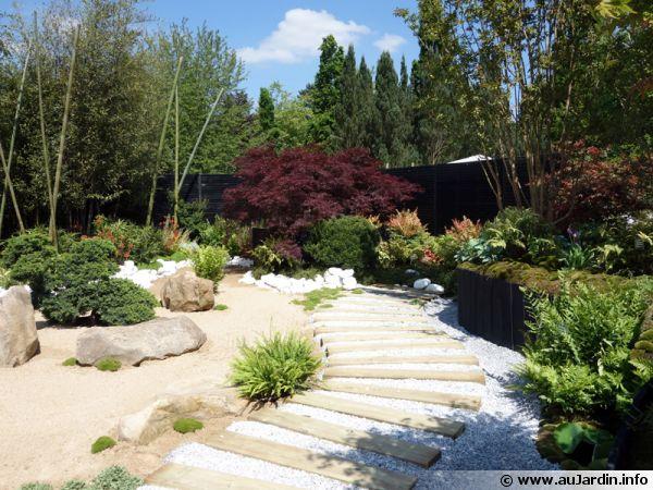 Le jardin japonais de pascal laforge pour truffaut for Massif jardin japonais