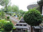 Les jardins cinématiques de Roland Garros, terrasse du stade Suzanne Lenglen