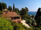 Les jardins de Villa della Pergola à Alassio en Italie