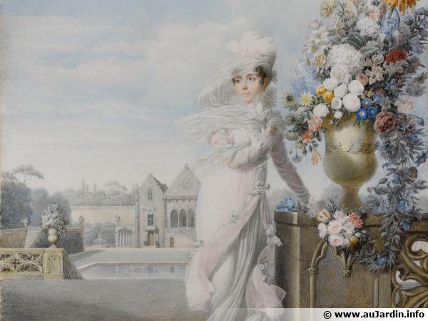 Auguste Garneray - Portrait de l'impératrice Joséphine-s.d. 1813 - Aquarelle sur vélin - Paris, coll. part.