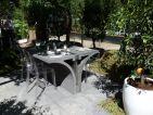 Luc ÉCHILLEY, Le jardin-Container, table et agrumes