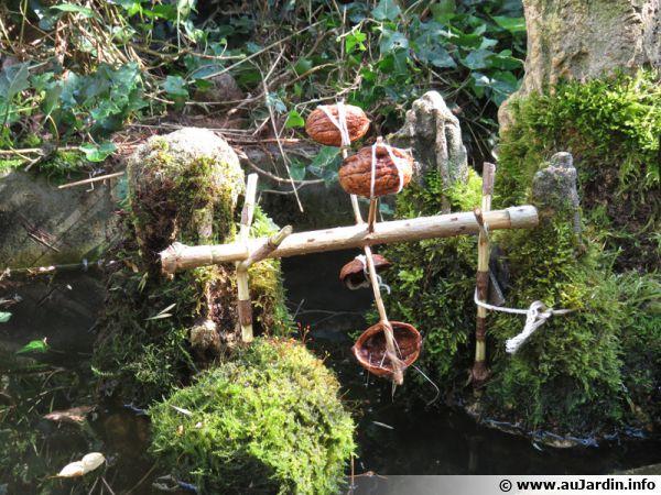 Un petit moulin à eau dans son jardin