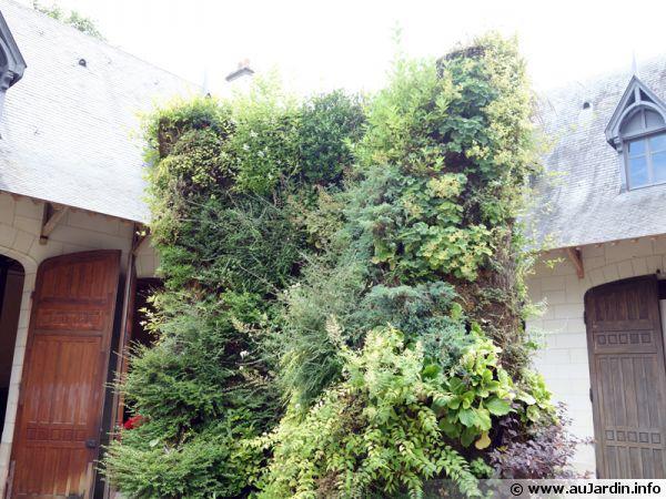La spirale végétale de Patrick BLANC, un mur de végétaux visible à Chaumont sur Loire