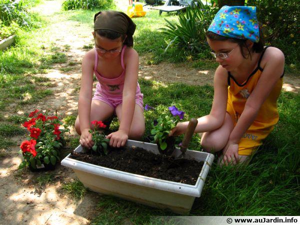 Utilisation de terreau adapté à la plantation en jardinière