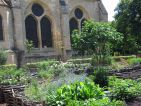 Le potager en carrés à l'abbaye de Royaumont