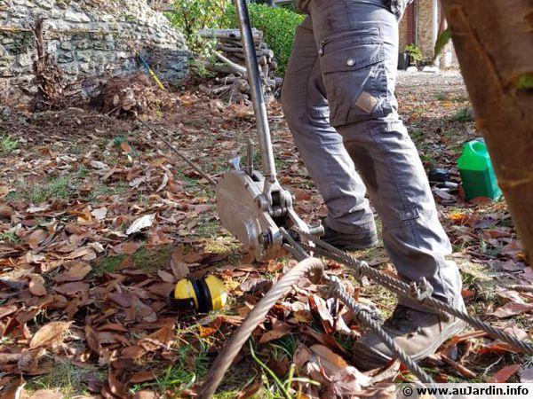 Utilisation pour arrcher un arbre bien installé...