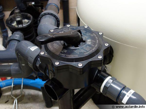 La vanne multi-voies du filtre de piscine