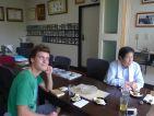 Yann OLIFANT en compagnie de Masahiko KIMURA (un des plus célèbres bonsaïka japonais)