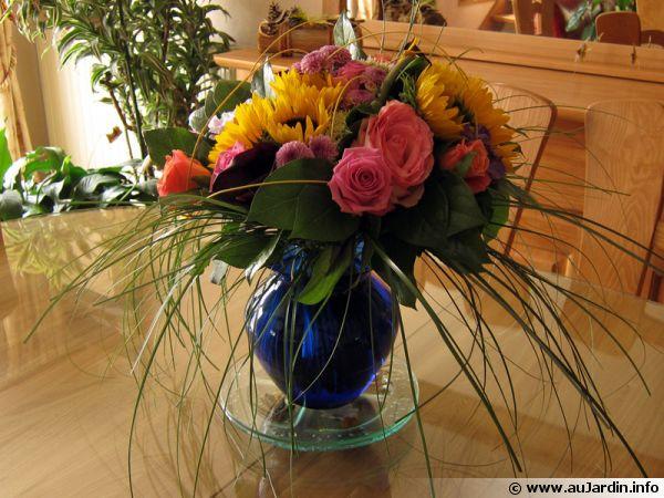 Un beau bouquet sublime une pièce ...