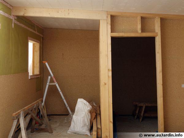 Une construction à ossature bois avec ses différents matériaux isolants