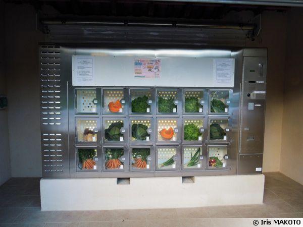 Un distributeur de légumes