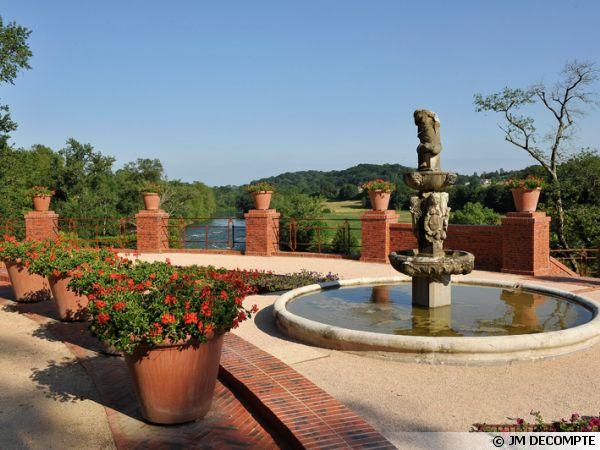 Jardin d'été au domaine de Laàs