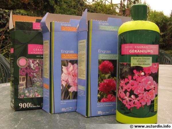 Engrais divers pour plantes en pot