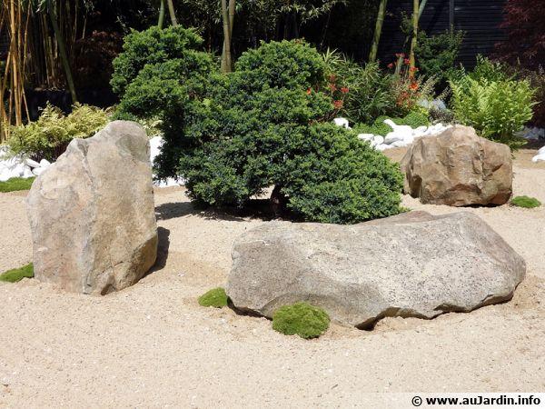 des grosses roches pour une ambiance minrale au jardin - Jardin Mineral