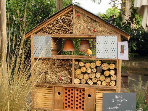 une maison pour les insectes. Black Bedroom Furniture Sets. Home Design Ideas
