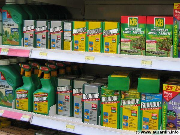Rayon de pesticides en jardinerie