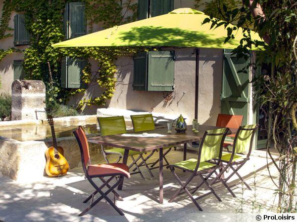 Un salon de jardin vitamin avec oc o de proloisirs - Salon de jardin oceo aluminium fiero ...