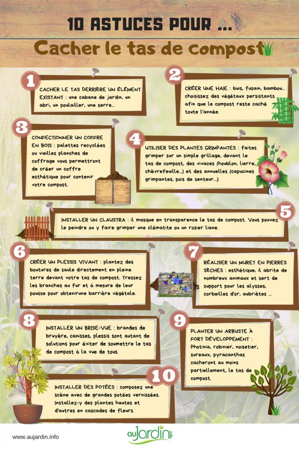 10 astuces pour cacher le tas de compost