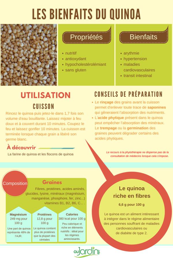 Le quinoa, comme une céréale...