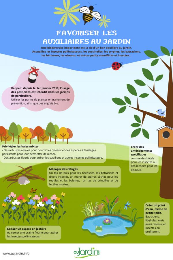 Favoriser les auxiliaires au jardin