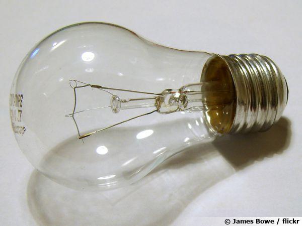 Une ampoule à incandescence