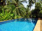 La piscine de Pascal BUREL, vue de la maison