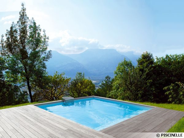 Une piscine à la montagne