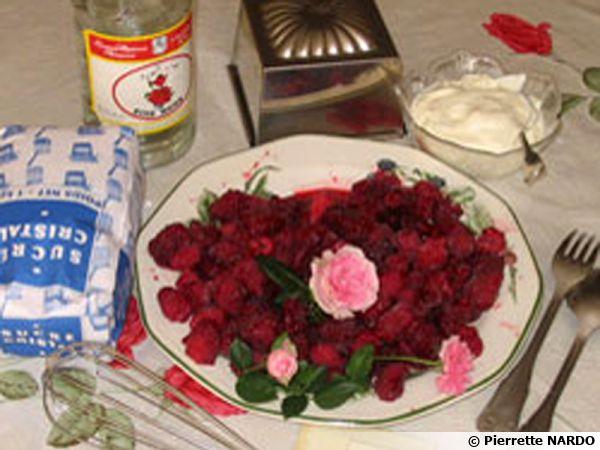Bavarois framboises-roses