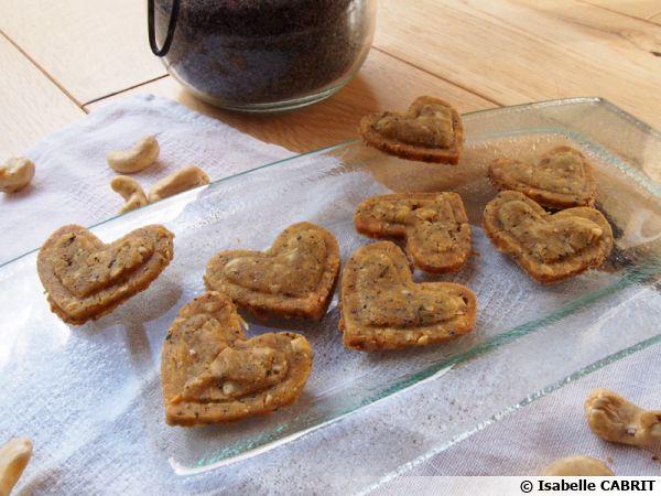 Biscuits salés aux noix de cajou