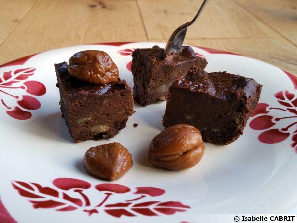 Brownies aux châtaignes