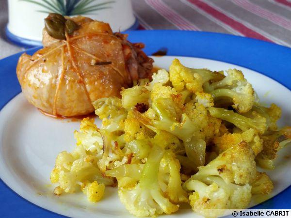 Chou Fleur Caramelise Au Curcuma Recette De Cuisine