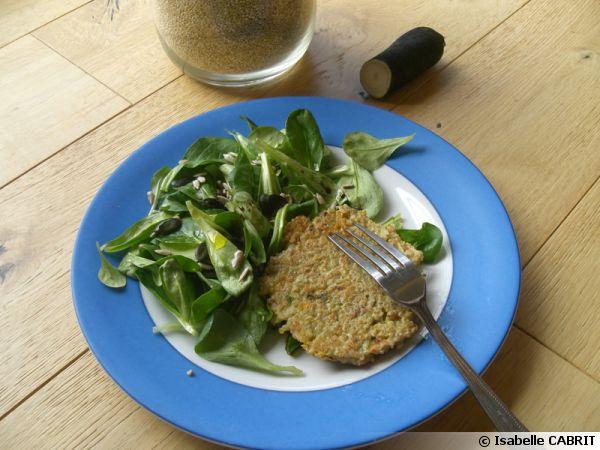Galettes de quinoa au radis noir