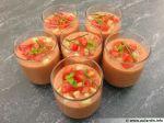 Gaspacho Tomates/Concombre en verrines