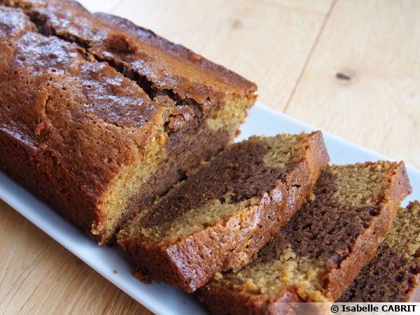 Gâteau moelleux marbré