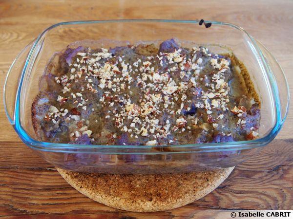 Gratin de chou-fleur violet à la béchamel de lentilles