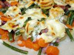 Gratin de légumes et saucisse de Morteau