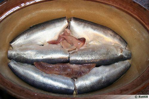 Hareng salé au vinaigre